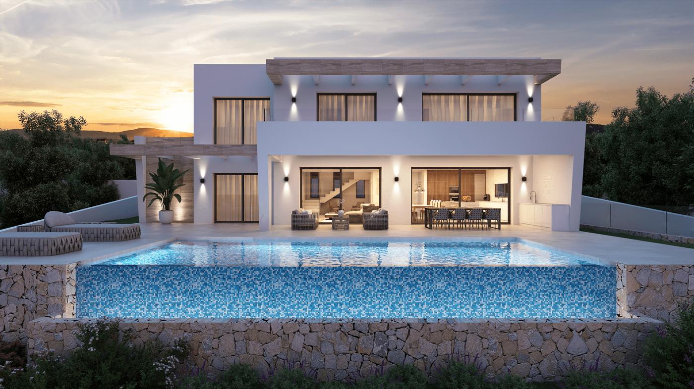 villa en moraira · urbanizacion 1300000€